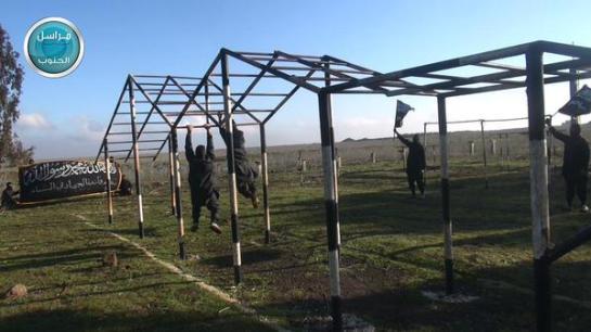 A Jabhat al-Nusra training camp in Quneitra.