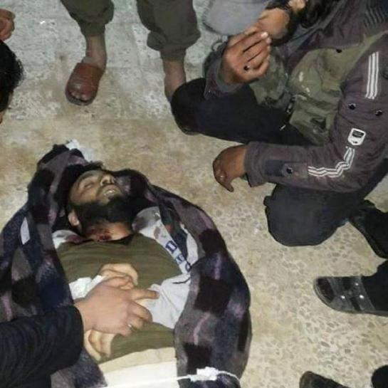 A rebel killed in the fighting.