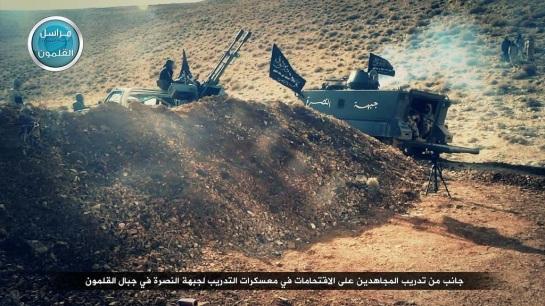 A Jabhat al-Nusra training camp in Qalamoun.