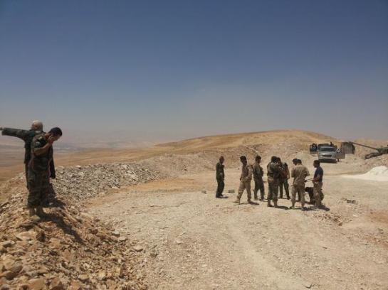 Soldiers in eastern Qalamoun.