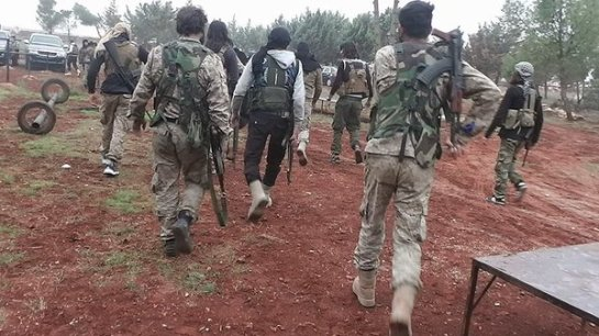 Rebels in the captured area. 11-20-2015